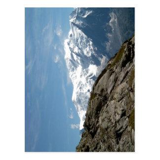 記述モンブランおよびDome du Gouterの写真ta ポストカード