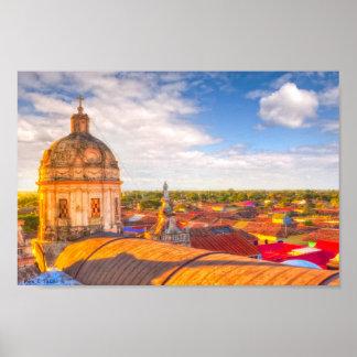 記録保管グラナダニカラグア12x8の屋根に ポスター
