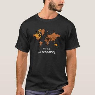訪問された国のTシャツ(暗い) Tシャツ
