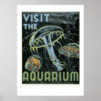 訪問して下さいアクアリウム- WPAポスター-を ポスター