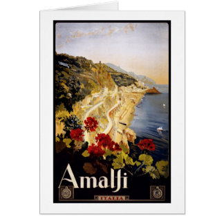 訪問のアマルフィポスター カード