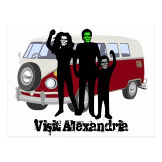 訪問のアレキサンドリアのゾンビ ポストカード
