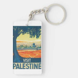 訪問のパレスチナのヴィンテージ旅行ポスター キーホルダー