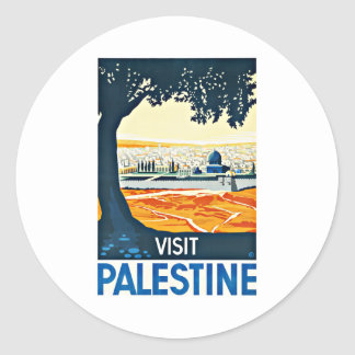 訪問のパレスチナのヴィンテージ旅行 ラウンドシール