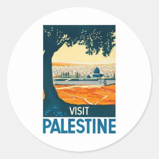 訪問のパレスチナポスター ラウンドシール