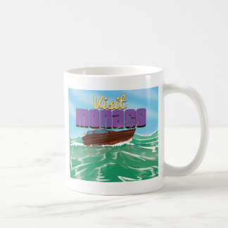 訪問のモナコ旅行ポスター コーヒーマグカップ