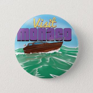 訪問のモナコ旅行ポスター 5.7CM 丸型バッジ