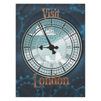訪問のロンドンビクトリアンな旅行ポスター テーブルクロス
