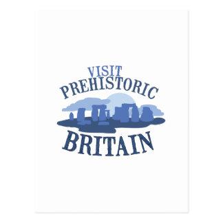 訪問の有史以前のイギリス ポストカード