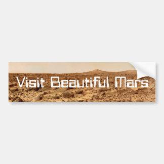 訪問の美しい火星 バンパーステッカー