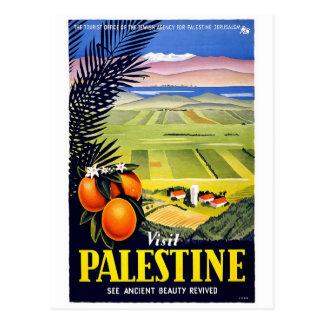 """""""訪問パレスチナ""""のヴィンテージ旅行ポスター郵便はがき ポストカード"""