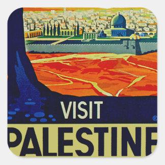 訪問パレスチナ スクエアシール