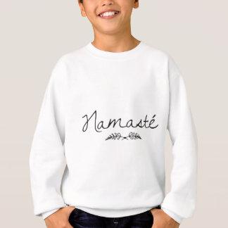 設計されていたナマステのヨガ スウェットシャツ
