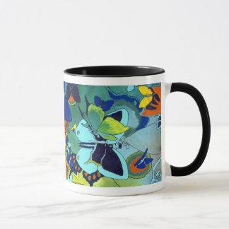設計されているかわいい蝶モザイク色 マグカップ