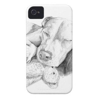 許可された睡眠犬のうそ Case-Mate iPhone 4 ケース