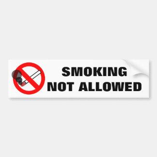 許可されなかった警告標識を煙らすこと バンパーステッカー