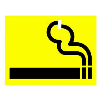 許可される喫煙 ポストカード