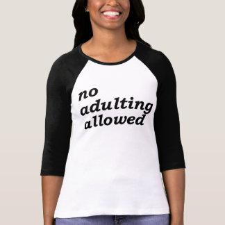許可されるAdulting無し Tシャツ