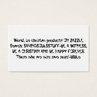 証人がある福音の伝道カード 名刺