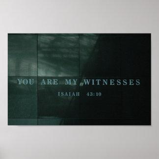 証人のアイザイア43.10のホロコースト博物館 ポスター