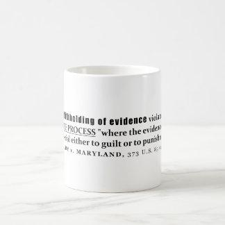 証拠のBrady vメリーランドの事例法律の差し控え コーヒーマグカップ