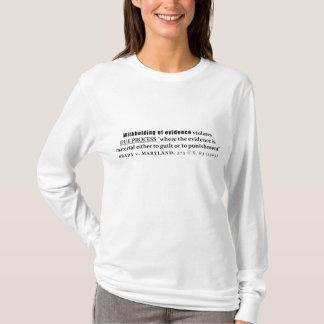 証拠のBrady vメリーランドの事例法律の差し控え Tシャツ