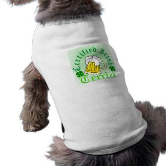 証明されたアイルランド語、テリア、小犬のTシャツ ペット服