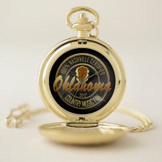証明されたオクラホマのカントリーミュージックファンの壊中時計 ポケットウォッチ