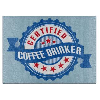証明されたコーヒー酒飲み カッティングボード