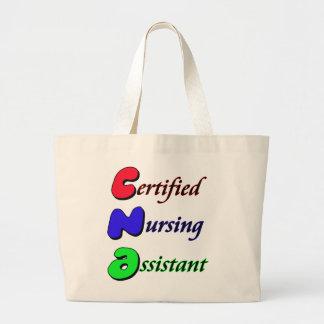 証明された看護の助手 ラージトートバッグ
