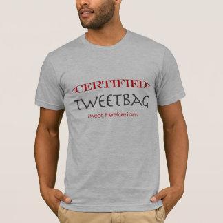 証明されたTwitter Tweetbag Tシャツ