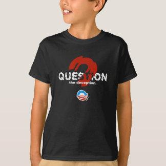 詐欺に質問して下さい Tシャツ