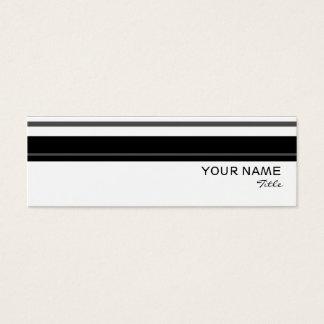 詐欺のストライプな名刺のテンプレートの細い白 スキニー名刺
