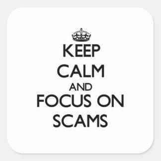 詐欺の平静そして焦点を保って下さい スクエアシール