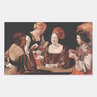 詐欺(ダイヤモンドのエースと) - 1635年 長方形シール