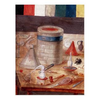 評判では書かれる錬金術師の装置、 ポストカード