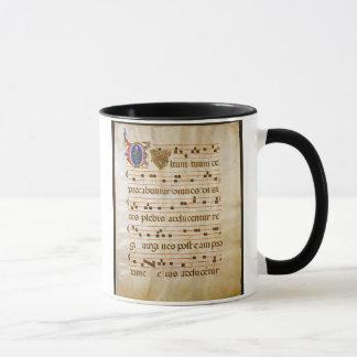 """詠唱manuscript.jpgのグレゴリオ暦の詠唱: """"cutt… マグカップ"""