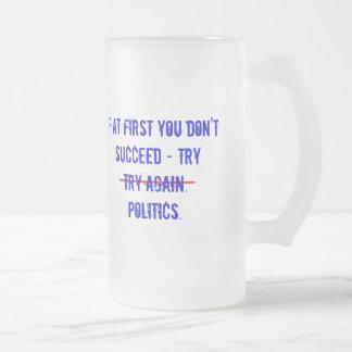 試みの政治のマグ フロストグラスビールジョッキ