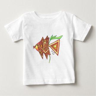 試みの角度の魚 ベビーTシャツ