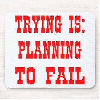 試みることは次のとおりです: 失敗することを計画 マウスパッド