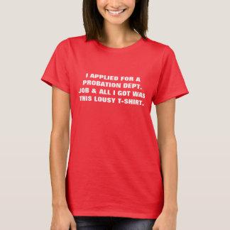 試験期間の女性Tシャツ Tシャツ