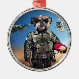試験犬、おもしろいなブルドッグ、ブルドッグ メタルオーナメント