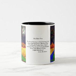 詩が付いているエデンの木 ツートーンマグカップ