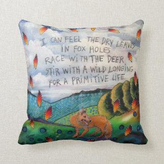 詩が付いている芸術の枕 クッション