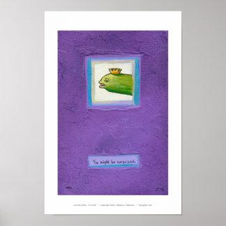 詩人のピクルスか。 ウナギか。 王か。 芸術を絵を描く態度のおもしろい ポスター