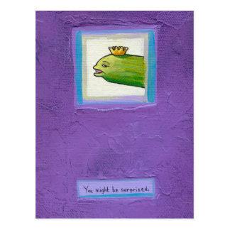 詩人のピクルスか。 ウナギか。 王か。 芸術を絵を描く態度のおもしろい ポストカード