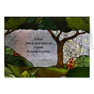 詩歌およびステンドグラス カード