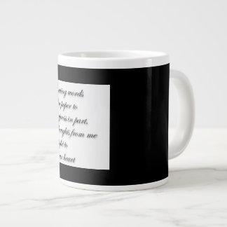 詩歌のジャンボコーヒーか茶マグ ジャンボコーヒーマグカップ