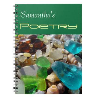 詩歌のノートのSeaglassのあなたの一流の瑪瑙 ノートブック