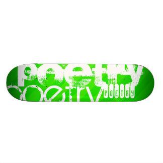 詩歌; ネオン緑のストライプ 21.6CM スケートボードデッキ